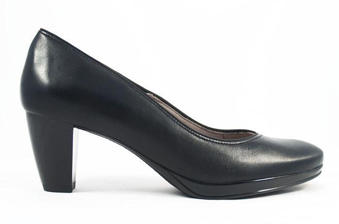 edca3de6565b ara černé kožené dámské lodičky na podpatku